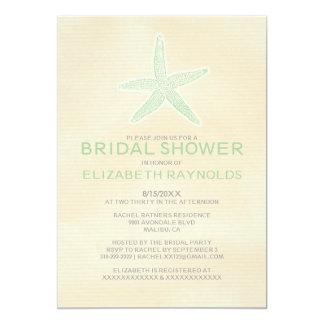 Cute Starfish Beach Bridal Shower Invitations Personalized Invitations