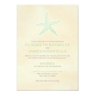 Cute Starfish Beach Wedding Invitations Custom Invites