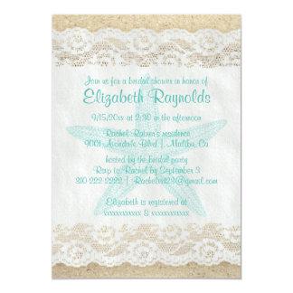 Cute Starfish Bridal Shower Invitations Invitations