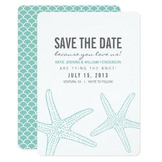 Cute Starfish Save the Date Card