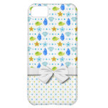 cute starfish seashells and polka dots pattern iPhone 5C cases