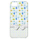cute starfish seashells and polka dots pattern iPhone 5C cases