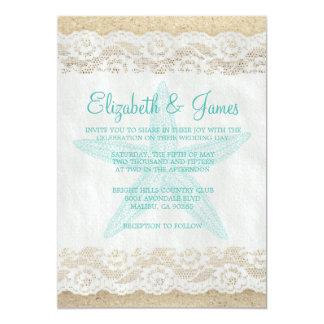Cute Starfish Wedding Invitations Personalized Invitations