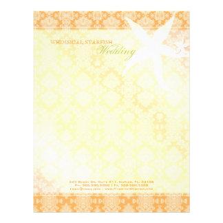 Cute Starfish Wedding Planner Business Letterhead