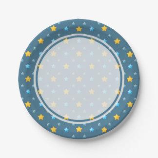 Cute stars 7 inch paper plate