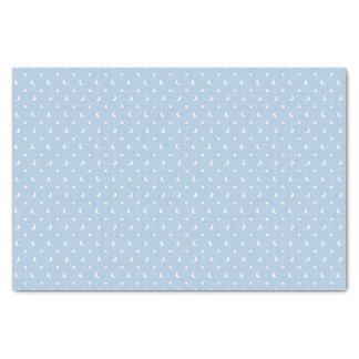 "Cute Stars and Moons on Pale Blue Pattern 10"" X 15"" Tissue Paper"