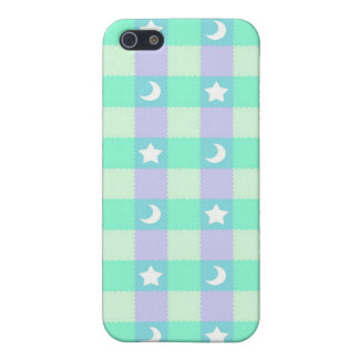 Cute Stars and Moons on Teal Case For iPhone SE/5/5s