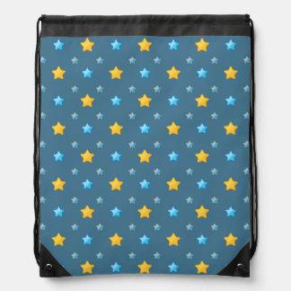 Cute stars drawstring backpack