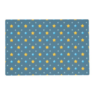 Cute stars laminated placemat