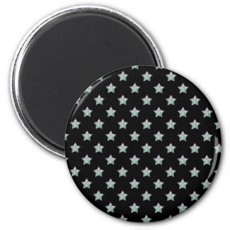 Cute Stars on Black Background Pattern Magnet