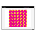Cute stars on pink pattern decal for laptop