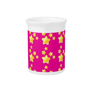 Cute stars on pink pattern drink pitcher