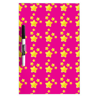 Cute stars on pink pattern Dry-Erase board