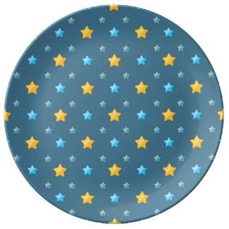 Cute stars porcelain plates