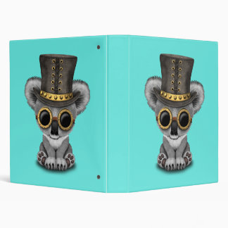 Cute Steampunk Baby Koala Bear Binder