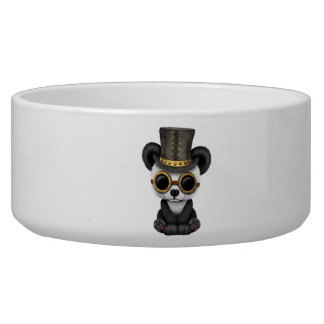 Cute Steampunk Baby Panda Bear Cub Bowl