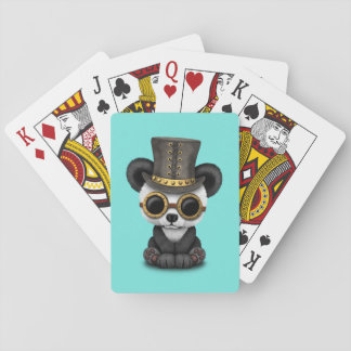 Cute Steampunk Baby Panda Bear Cub Playing Cards