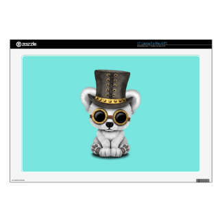 Cute Steampunk Baby Polar Bear Decals For Laptops