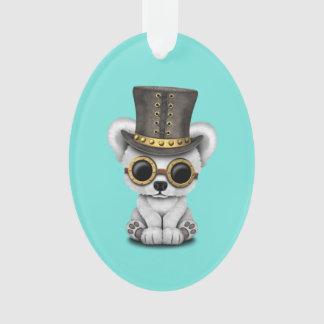 Cute Steampunk Baby Polar Bear Ornament