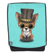 Cute Steampunk Baby Red Fox Backpack