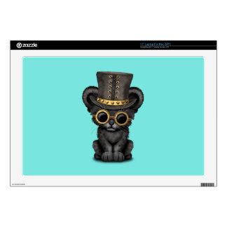 Cute Steampunk Black Panther Cub Laptop Skins