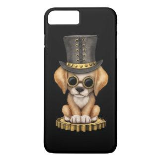 Cute Steampunk Golden Retriever Puppy Dog, black iPhone 8 Plus/7 Plus Case