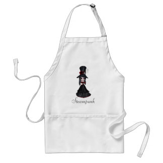 Cute Steampunk Goth Girl Apron
