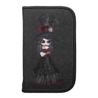 Cute Steampunk Goth Girl Folio Planner rickshaw_folio