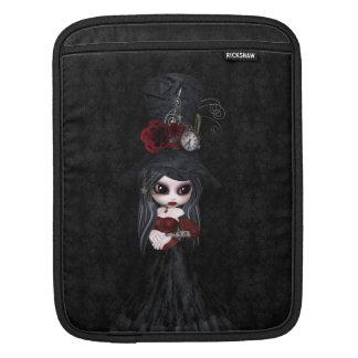 Cute Steampunk Goth Girl iPad Sleeve