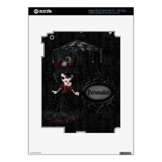 Cute Steampunk Goth Girl Personalized iPad 3 Skin