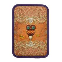 Cute steampunk owl iPad mini sleeve