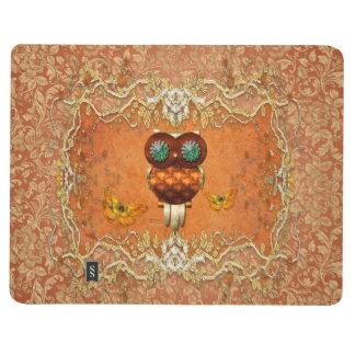 Cute steampunk owl journal