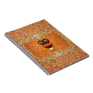 Cute steampunk owl notebook