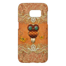 Cute steampunk owl samsung galaxy s7 case