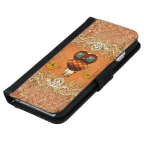 Cute steampunk owl wallet phone case for iPhone 6/6s