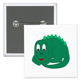 Cute Stegosaurus Pinback Buttons