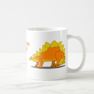 Cute Stegosaurus Dinosaur Cartoon Template Coffee Mug