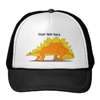 Cute Stegosaurus Dinosaur Cartoon Template Hats
