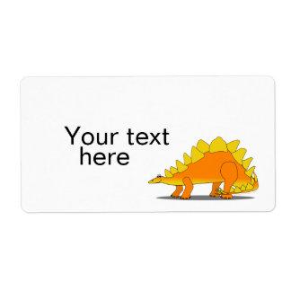 Cute Stegosaurus Dinosaur Cartoon Template Label