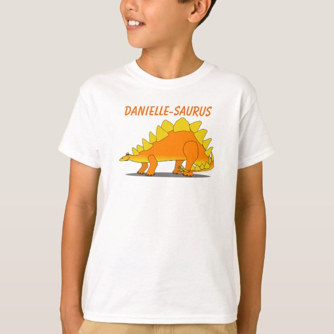 Cute Stegosaurus Dinosaur Cartoon Template