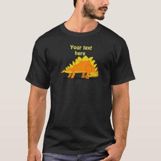 Cute Stegosaurus Dinosaur Cartoon Template T-Shirt