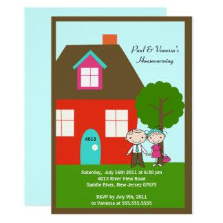 CUTE Stick Figure Couple ~ Housewarming Card