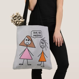 Cute Stick Figures Tote Bag
