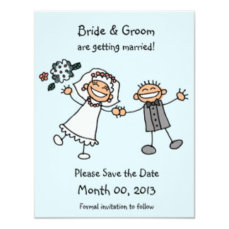 Cute Stick Figure Save the Date Cards
