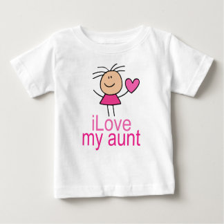 Cute Stick Girl Love My Aunt Gift Baby T-Shirt