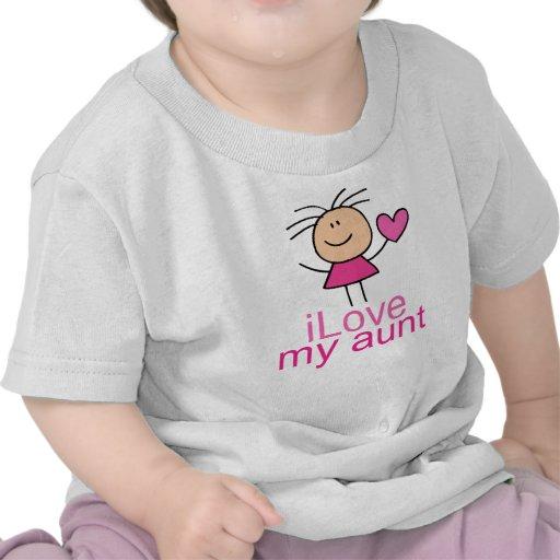 Cute Stick Girl Love My Aunt Gift T-shirt