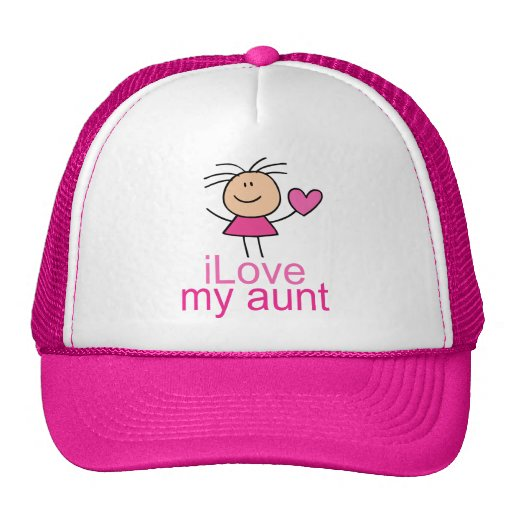 Cute Stick Girl Love My Aunt Gift Trucker Hat
