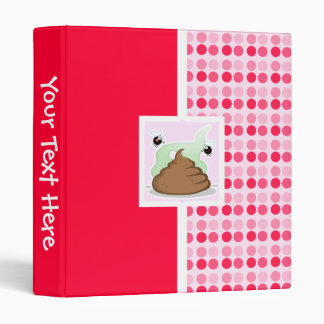 Cute Stinky Poo 3 Ring Binder