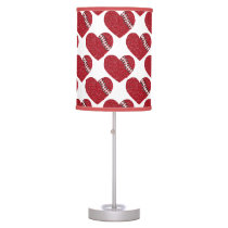 cute stitched red hearts lamp
