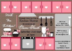 cute stock the kitchen bridal shower invite